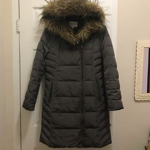 Cole Haan Down Jacket with Faux Fur Hood